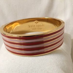 Kate Spade Gold-Tone Hinged Bangle Bracelet